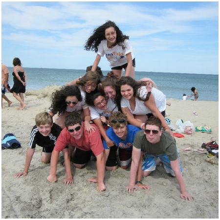 Teen Treks Cape Cod trek takes a break from bicycling to enjoy the beach